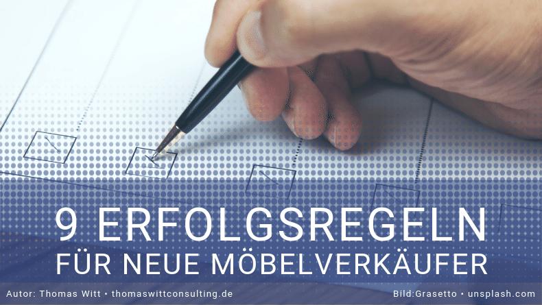 Erfolgsregeln für neue Möbelverkäufer - Möbelverkäufer EinarbeitungThomas Witt