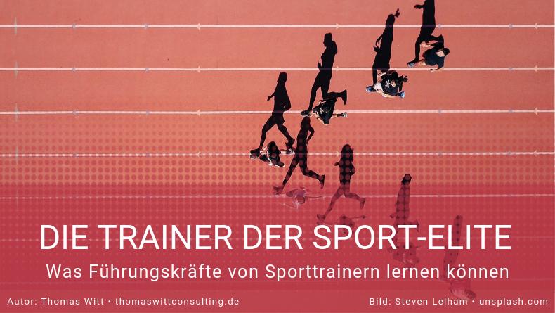 Führungskräfte und Sport-Trainer
