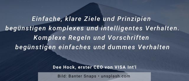 Copy of Dee Hock Zitat - Klare, einfache Prinzipien