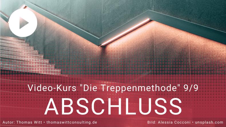 Treppenmethode Möbelverkauf 9_9 - Thomas Witt - Abschlusstechniken