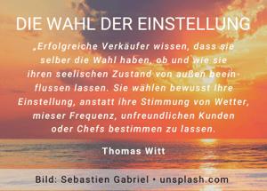Die Wahl der Einstellung - Thomas Witt