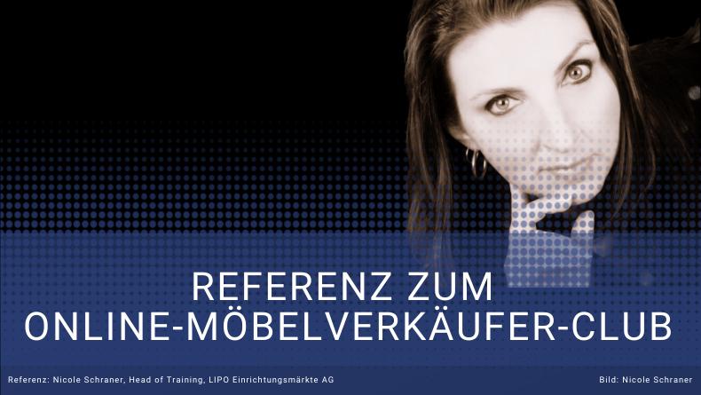 Referenz Nicole Schraner - Head of Training - LIPO Möbel für Thomas Witt