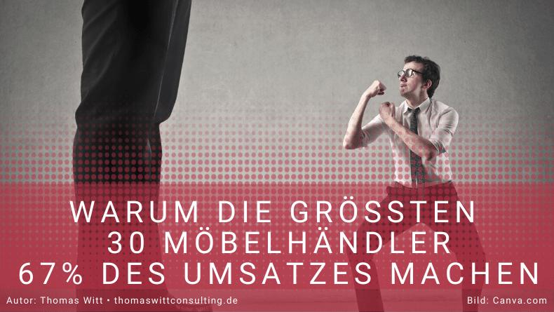 Warum machen die Top 30 Möbelhändler in Deutschland zwei Drittel des Umsatzes?